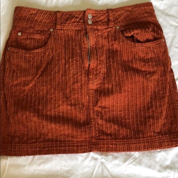 f1019b3201 BDG Dresses & Skirts - BDG Burnt Orange Corduroy Skirt